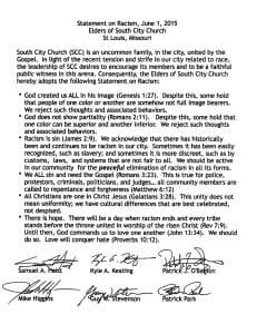 SCC Racism Statement